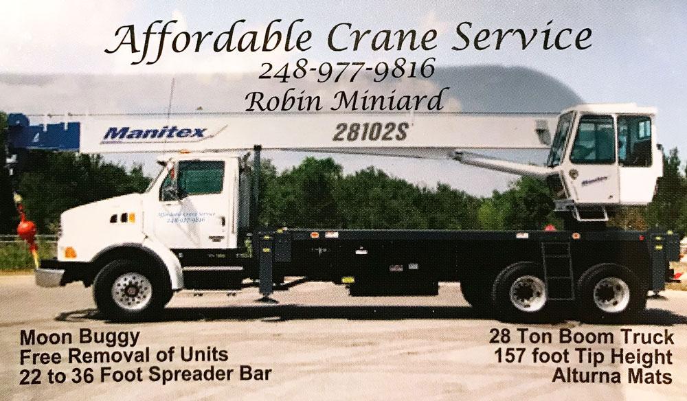 Metro Detroit Crane Service Boom Truck Rental